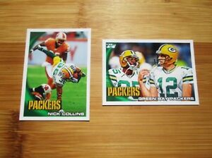 2010-Topps-Green-Bay-Packers-TEAM-SET-Aaron-Rodgers