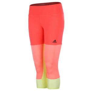 f79dbca1e6 Details about Adidas Womens 3/4 length Training Running Tights Bottoms  Pants S17613 - Large
