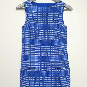 BANANA-REPUBLIC-Size-0-UK-4-XS-Blue-amp-White-Wrap-Shift-Dress-Checkered