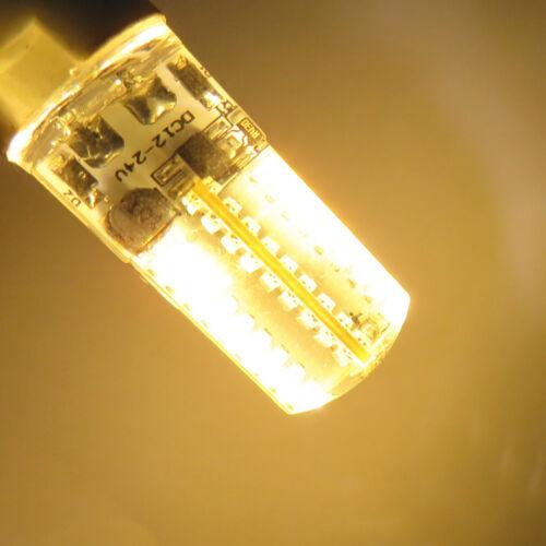 1x G4 Bi-Pin T5 72 3014 SMD LED Light Bulb Crystal Lamp 12-24V Warm White 3000K