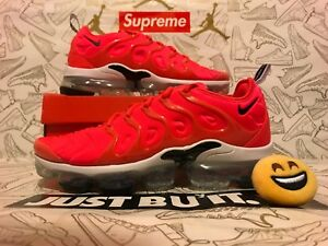 pretty nice 1cad6 6b59d Image is loading 100-Authentic-Nike-Air-VaporMax-Plus-Bright-Crimson-