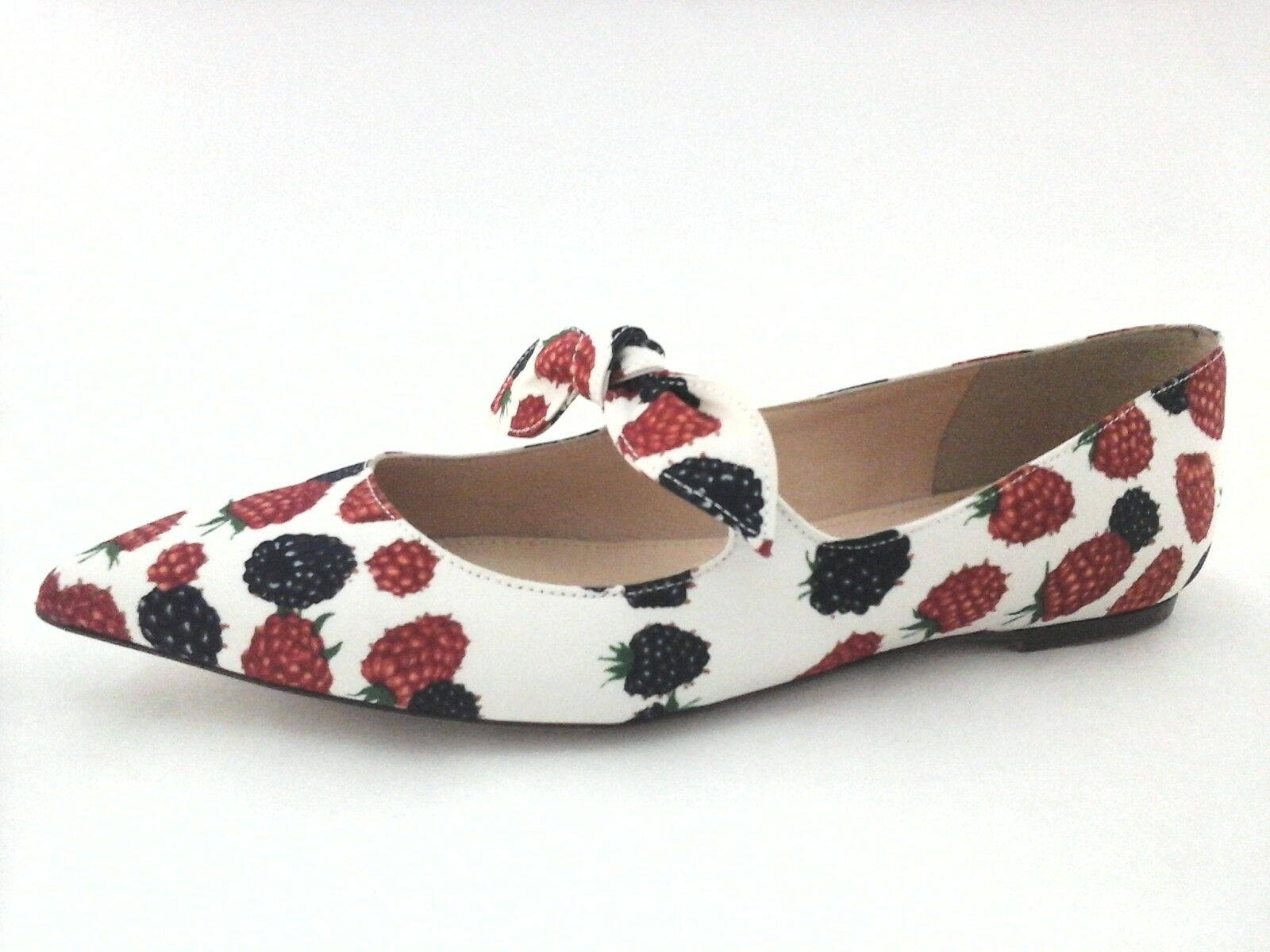 JCREW Flats Berry Print Ivory Multi Pointy chaussures G0924 femmes US 7.5 38  148 New