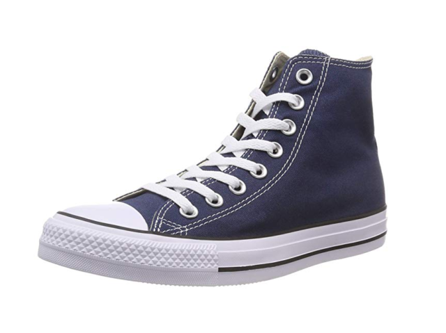Converse Chuck Taylor All Star SNEAKERS High Navy Blue Shoes Canvas ... b3fa933ff7a9