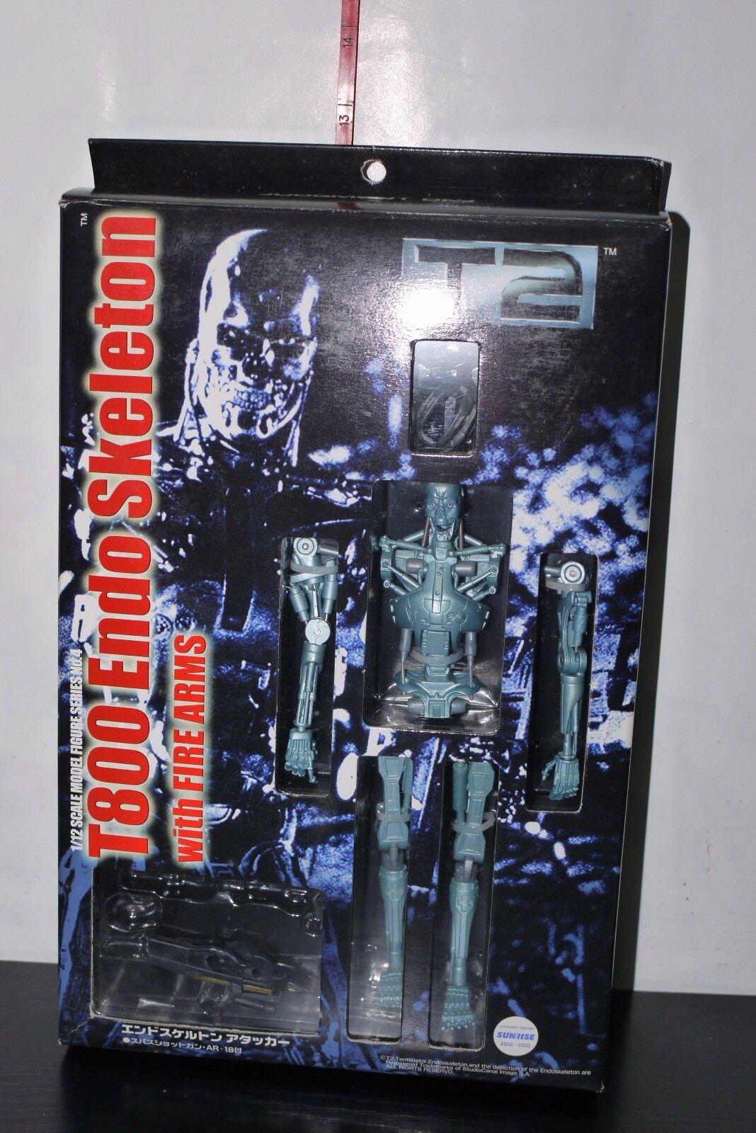 Skynet Terminator 2 1 12 scale model Figure T800 Squelette AOSHIMA + Boîte