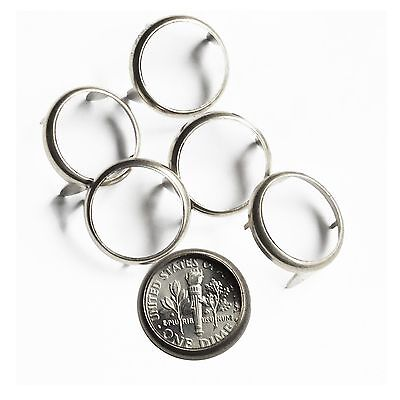 Quarter 25 cent USA Coin Holder Setting Bezel Nailhead Prongs Nickel Plate Pk10