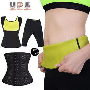 ce029d3d21cd4 Neoprene Body Shaper Pants Waist Trainer Belt Yoga Sauna Sweat Vest ...
