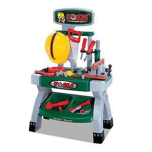 Childrens Work Bench Kids Play Set With 45+ Tools Diy Tool Kit Construction Toy 5050577928295