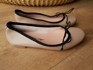 FREE PEOPLE CLOGS Black Leather Sling Back Sandals UK 6 NEW 39 RRP £148