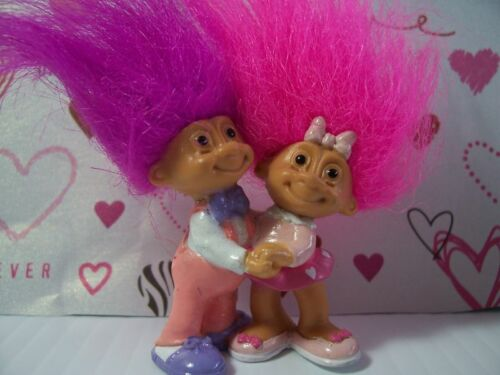 "VALENTINE SWEETHEARTS IN LOVE 2/"" Russ Troll Doll Miniature NEW IN WRAPPER"