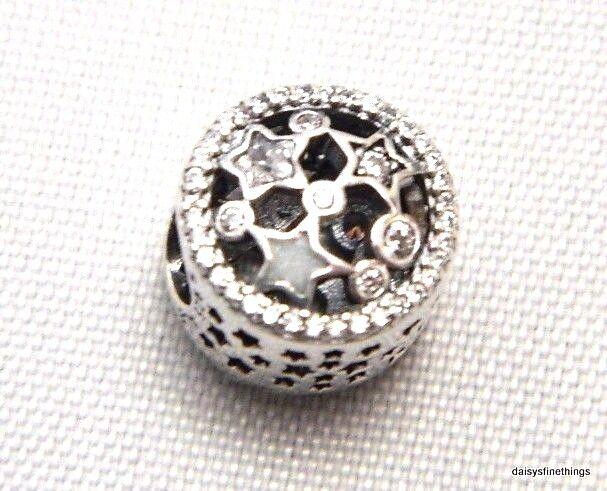 8a2800aa3 Authentic PANDORA Silver Illuminating Stars Charm 796373CZ B54 for sale  online | eBay