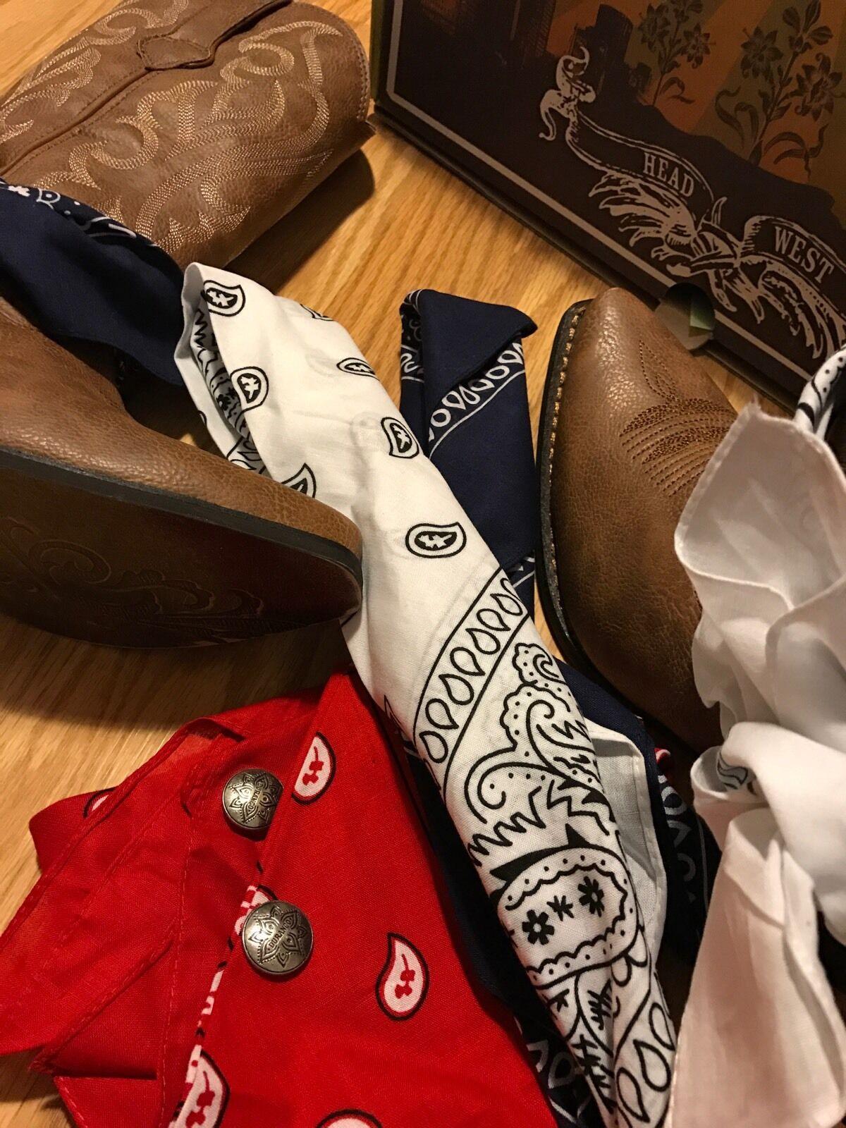 Durango Crush Brown Cowgirl Western Boots DRD0089 Women's Bandana 7.5 M