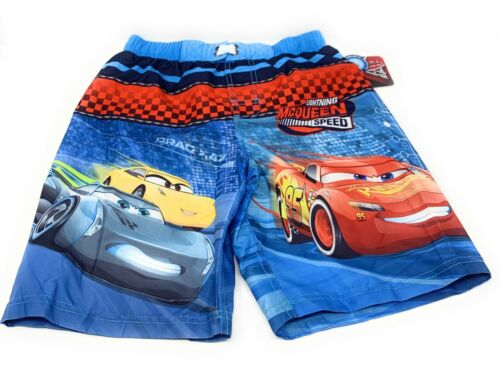Cars 3 Lightning McQueen /& Cruz Ramirez Swim Trunks Size 8 Kids Boys