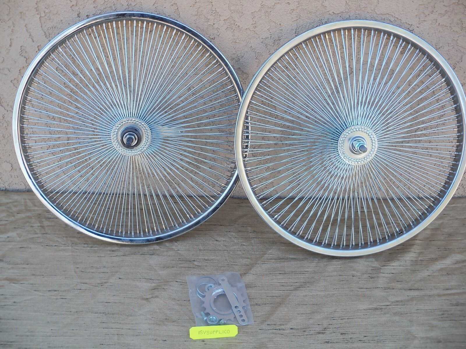 BICYCLE 20''-140 SPOKES RIM SET  FOR SCHWINN ,  CRUISER, CHOPPER, LOW RIDER,ETC.  exciting promotions