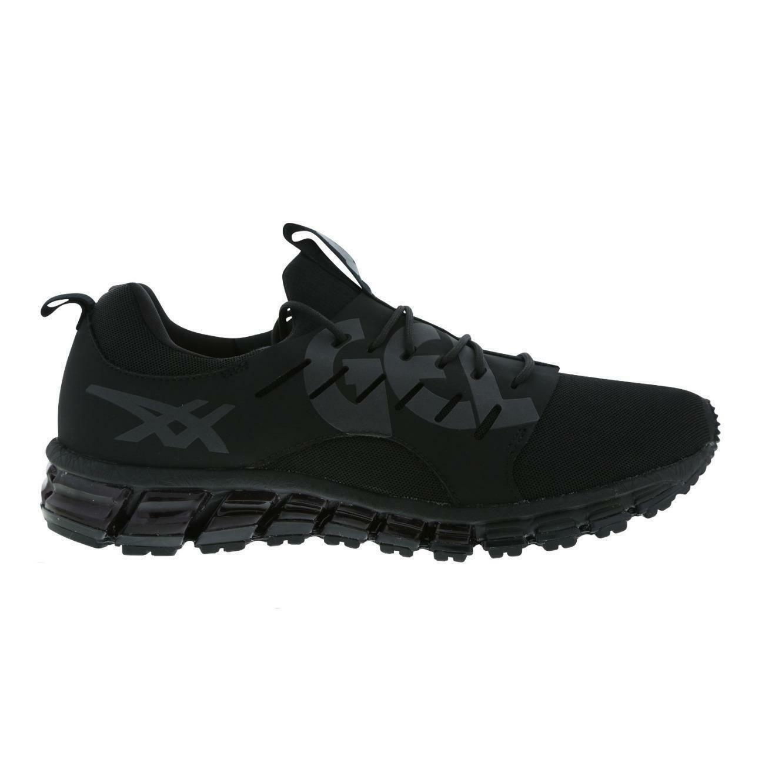 Mens ASICS GEL QUANTUM 180 SC Black Running Trainers T73RQ 9090