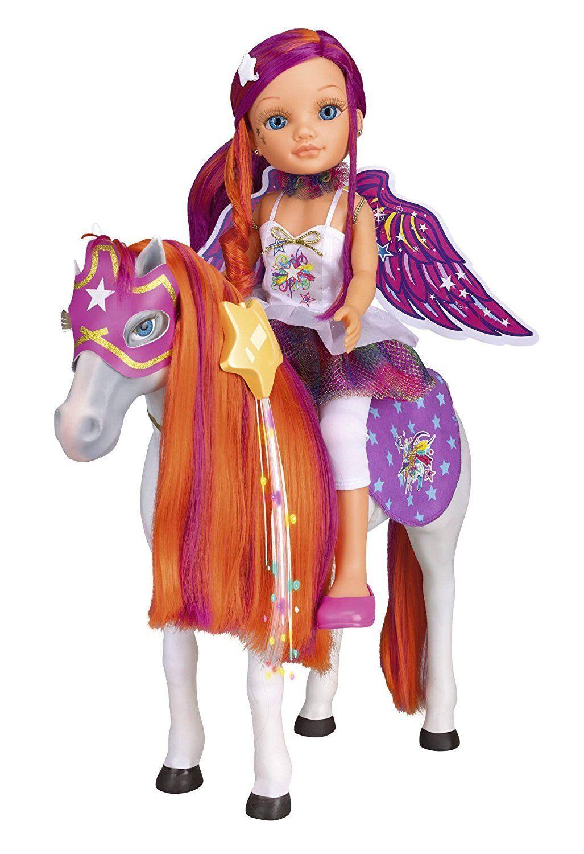 Muñeca Nancy con Caballo Funtastic Desprende Destellos de Coloreees Famosa Niña