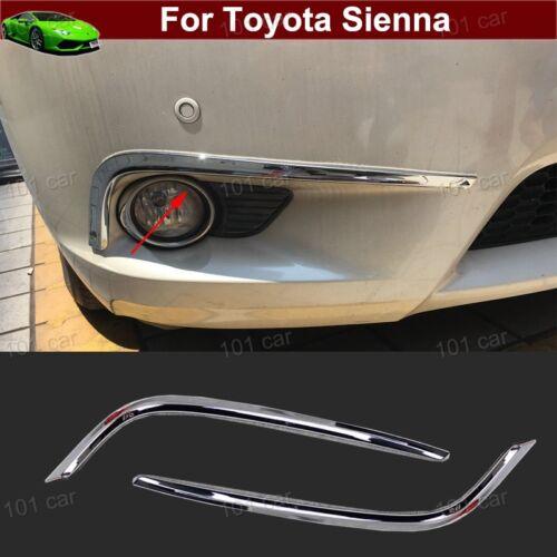 2x Chrome Front Fog light Fog Lamp Cover Trim Emblem For Toyota Sienna 2011-2017