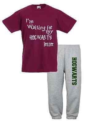Waiting for my Hogwarts Letter Harry Potter T-Shirt Top & Jogging Bottoms Pants