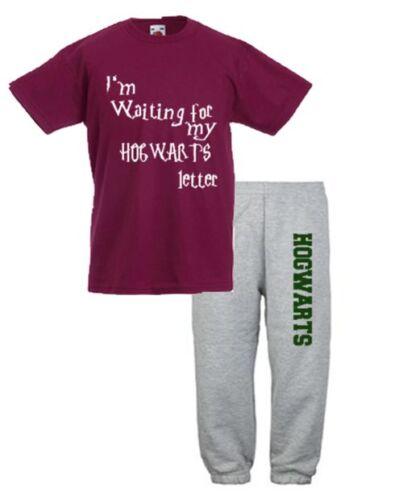 Waiting for my poudlard lettre harry potter t-shirt top /& pantalon de jogging pantalon
