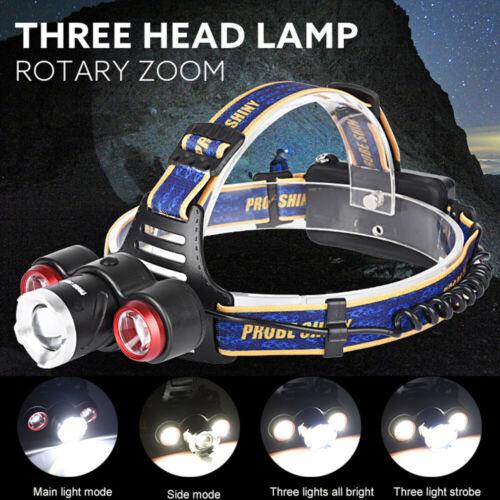 10000LM LED XML T6 2R5 Headlamp Rechargeable Headlamp HeadLight Torch Flashlight
