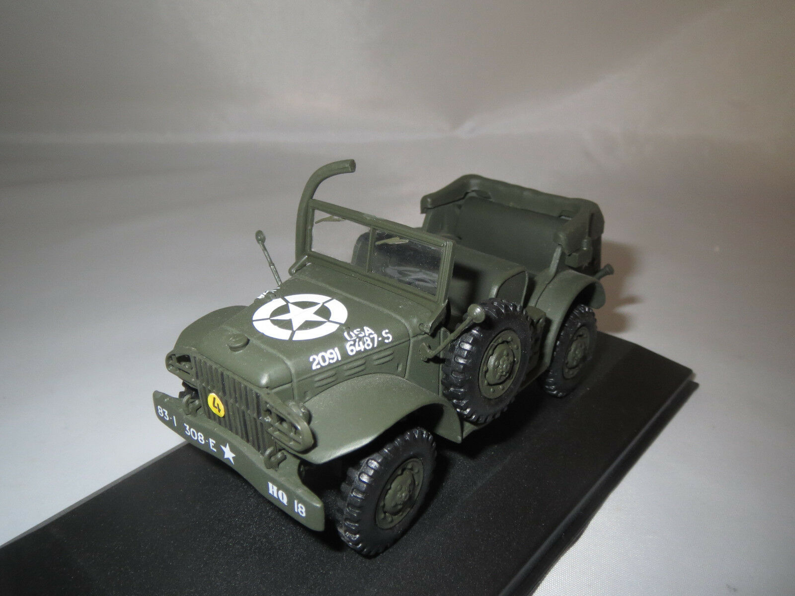 Victoria r054 DODGE WC 56 Open command car U.S. Army  with Fording KIT  1:43 OVP