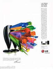 PUBLICITE ADVERTISING 095  2008  LG  home cinéma design MARK LEVINSON