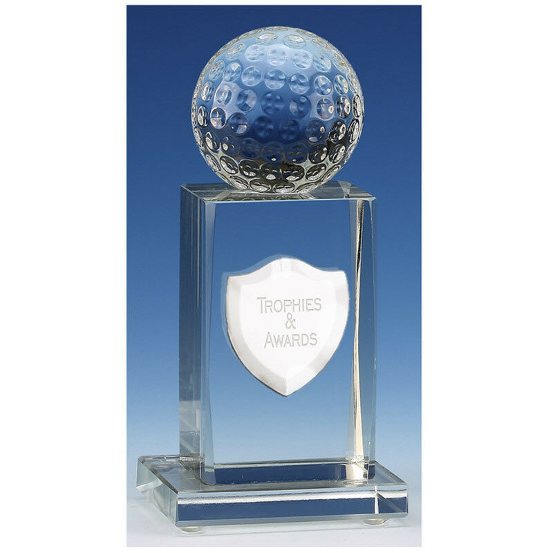 Eskdale Jade Glass Crystal Trophy In 2 Sizes Free Engraving up to 30 Letters
