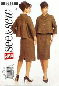 Butterick-See-and-Sew-5168-coat-jacket-fitted-dress-easy-to-sew-size-6-12