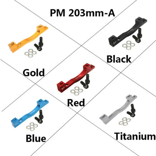 PM//IS MTB Bike Front Rear Disc Brake Adapter 180//203mm Caliper Bicycles Parts