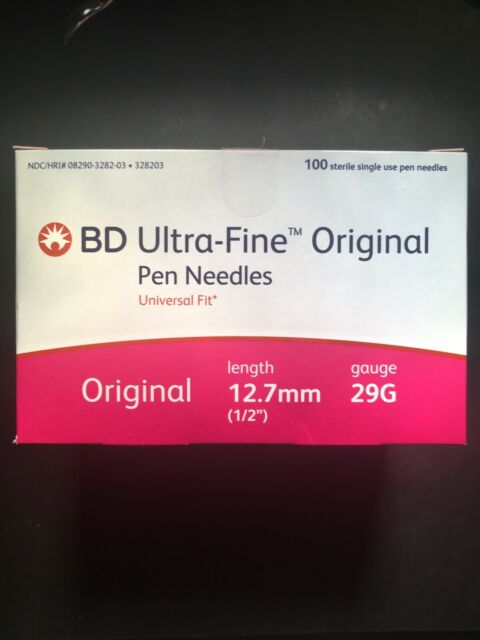 Bd Ultra Fine Original Pen Needles 29g 12 7mm 100ct For Sale