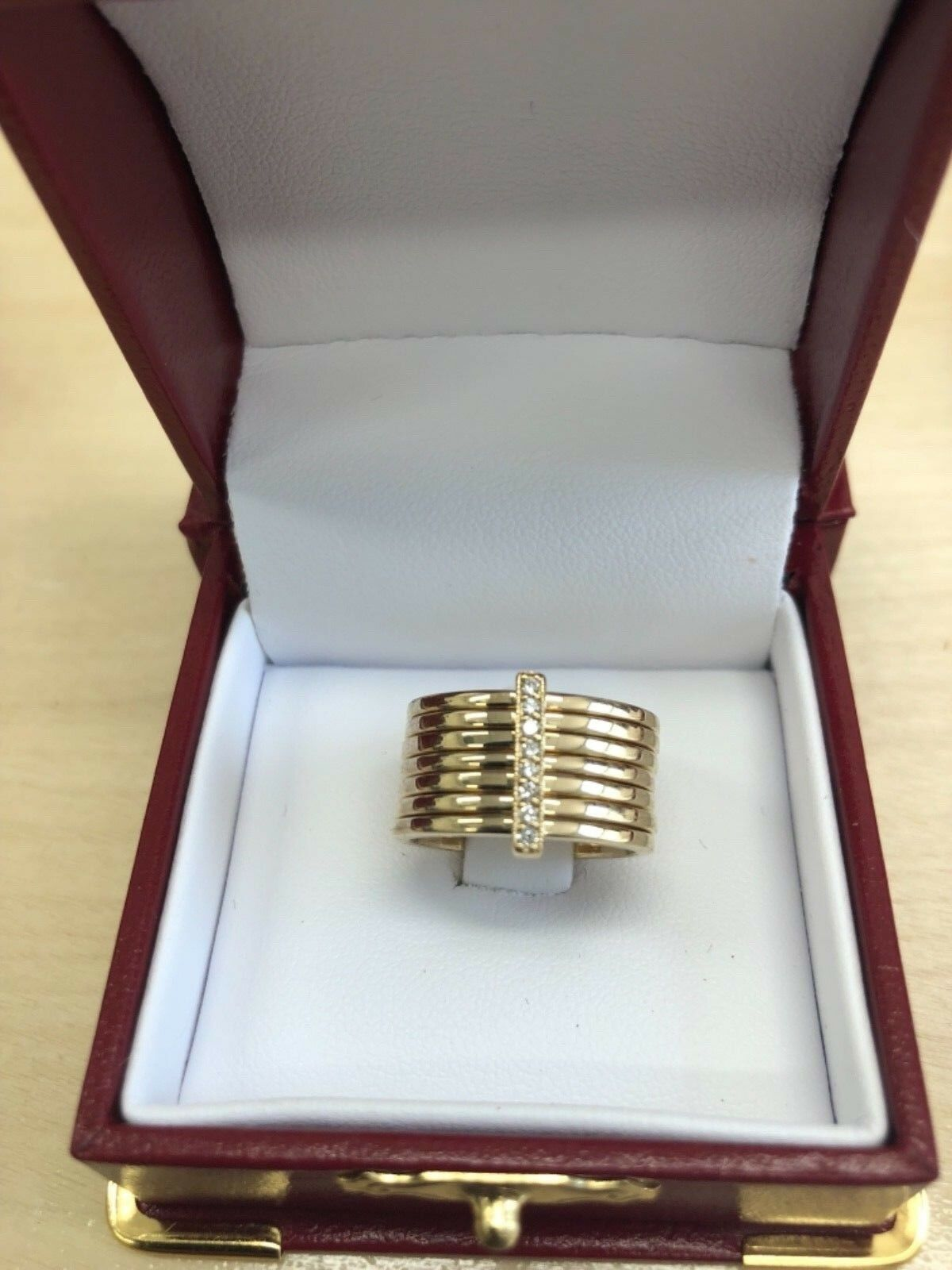 .10 CARAT DIAMOND RING H COLOR VS2CLARITY 14KT YELLOW gold