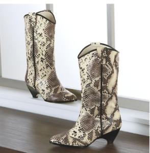 Ashro Elkiv Snake Pattern Boots Country Western Cowboy Sz 8 8.5 9 9.5 10 11 12