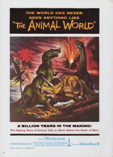 "1977 Vintage /""THE ANIMAL WORLD/"" DINOSAURS USA MINI POSTER Art Plate Lithograph"