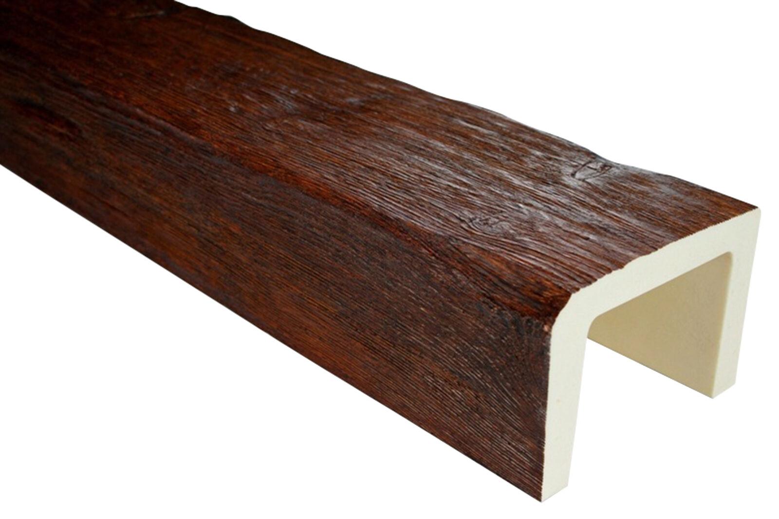 1 Stück Konsole PU Holzoptik Deco Wood Holzimitat 120x120mm EQ016 D