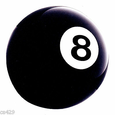 "6.5/"" Pool 8 ball billiards sports bar wall safe sticker border cut out character"