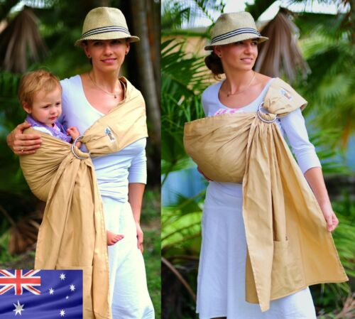 WALKABOUT RING SLING baby carrier cotton newborn to 3 years beige NEW