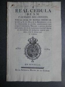 CEDULA-REAL-1784-FISCALES-OFICIOS-PROHIBICIoN-DE-HACER-PRESTAMOS-EN-MERCADER-AS