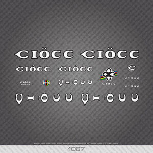 Transfers Decals 01067 Ciocc Bicycle Stickers