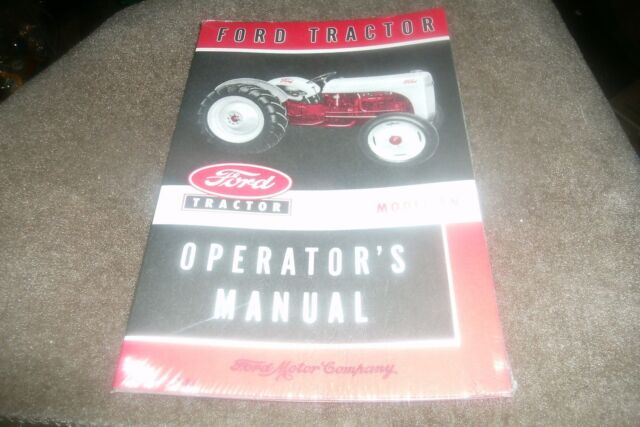 1948 1949 1950 1951 1952 FORD 8N TRACTOR Owners Manual Software ...