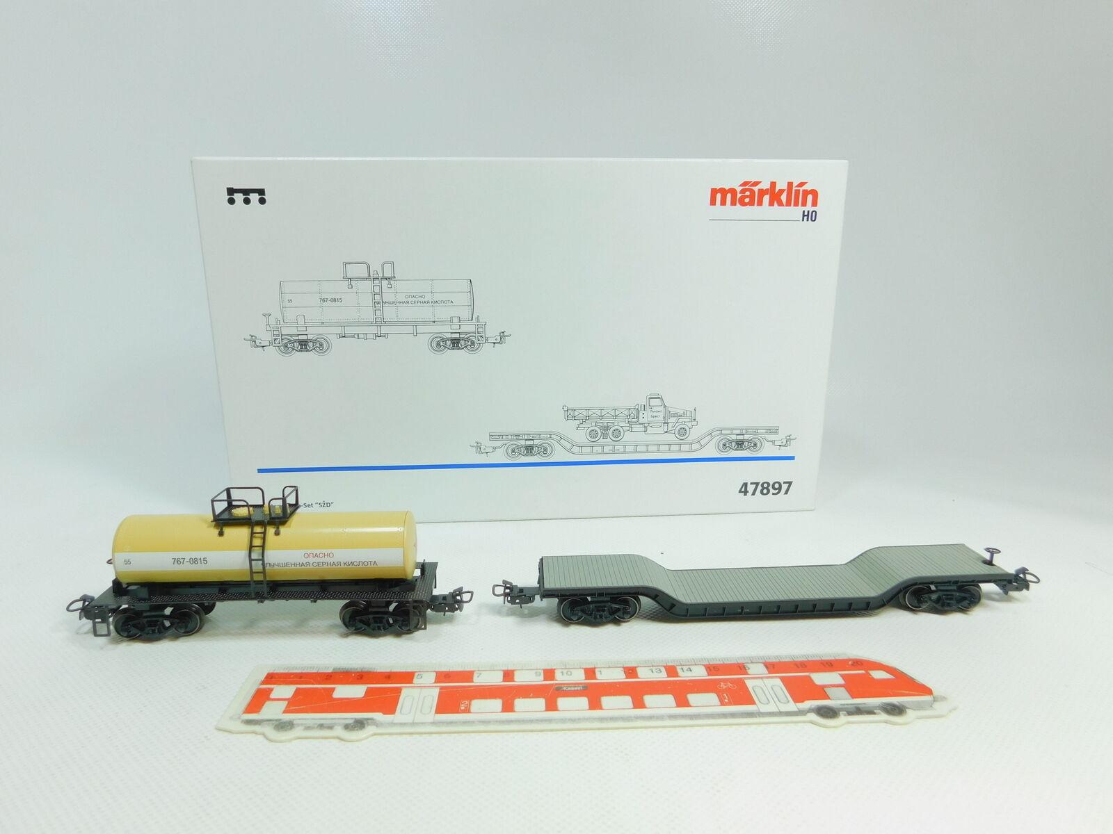 BO305-1 Märklin Mhi H0   Ac 47897 Set de Vagones (sin Camión) SZD ,Nuevo + Ovp