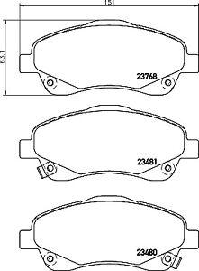 New Toyota Avensis T25 2.0 D-4D Genuine Delphi Rear Brake Pads Set