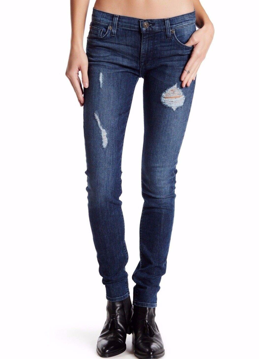 Nwt Hudson Sz30 Krista Knöchel Super Skinny-Stretch Jeans Distressed Samtosa