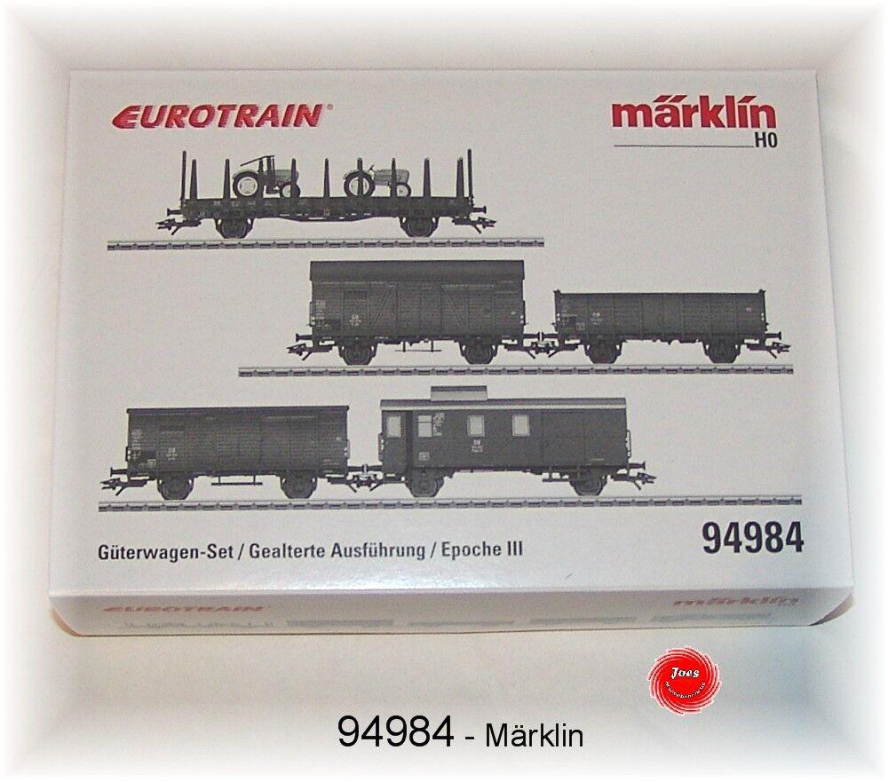 Märklin 94984 Güterwagen-Set 5-teilig der DB gealterte Ausführung  NEU in OVP