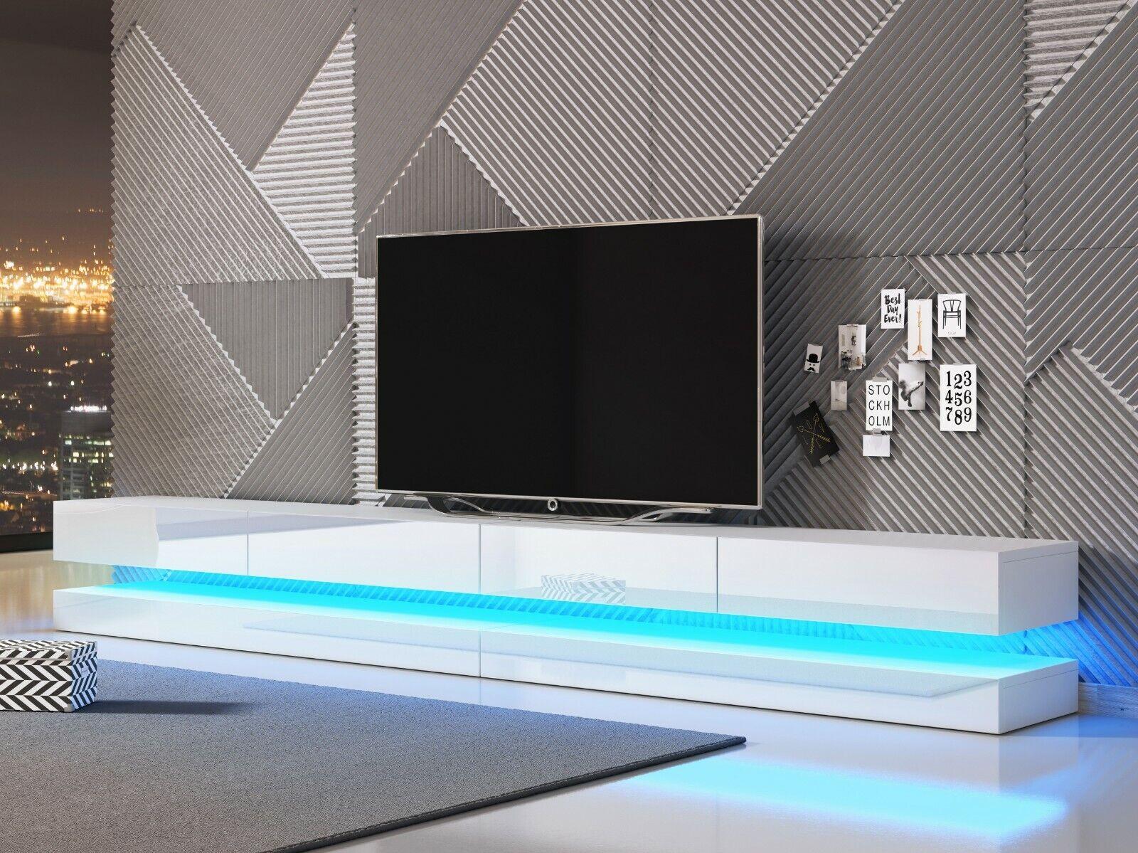 TV Lowboard FLY DOUBLE Fernsehboard Schrank Hängeboard Hängeschrank LED 280 cm