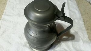 Antique Pewter: Pitcher conn. Probably 1800 mark on the bottom