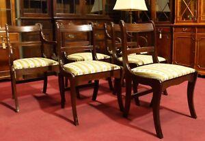 Set Zu Möbel Mahagoni Bezogen Englische Esstisch Details Neu Gepolstert Regency 6 Stühle 1uJcTFK3l