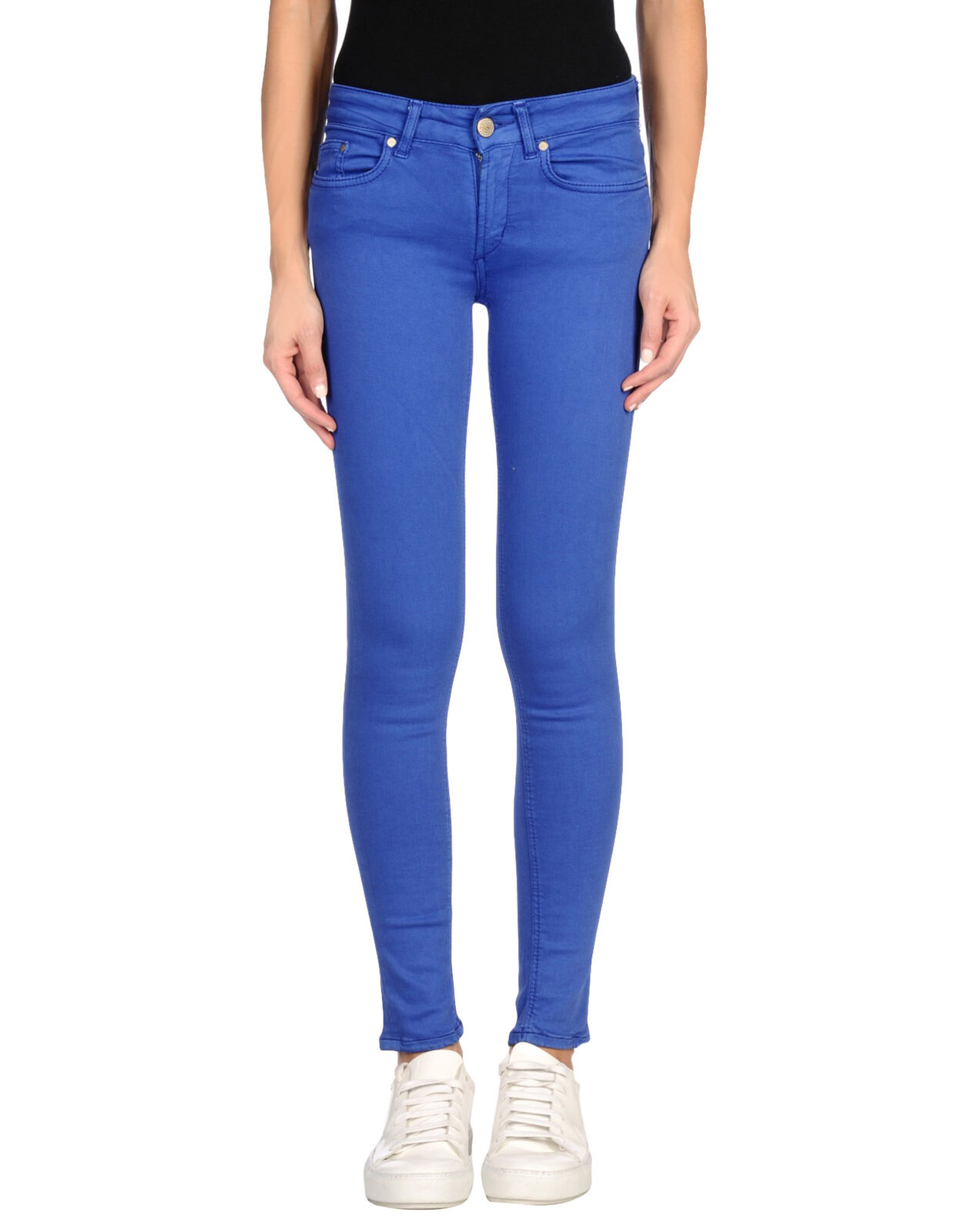 Dondup Womens Denim Low Slim Trousers Jeans Bright bluee 25(XS) Made In