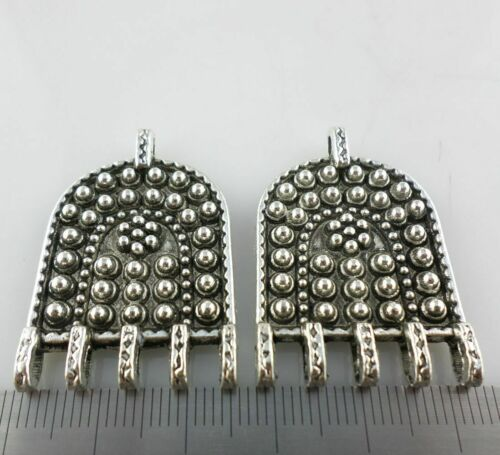 2//4pcs Tibetan Silver Collier Connecteurs Charms Pendentif 25x37mm Bijoux Making