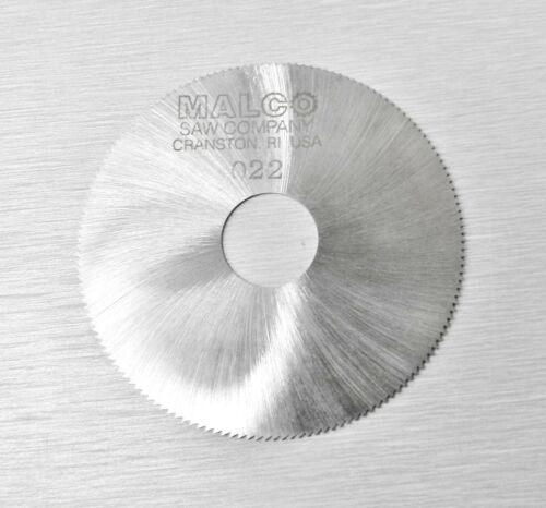 "JEWELERS SLOTTING SAWS MALCO SAW BLADE 2/"" HIGH SPEED CIRCULAR SAW BLADES 0.022/"""