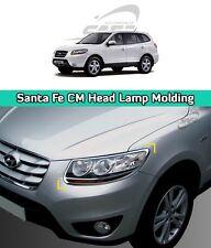 SAFE Chrome Head Lamp Molding 2Pcs For Hyundai Santa Fe CM 2006 2009