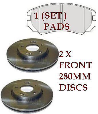 Pour Kia Sportage MK2 2.0 16 V /& 2.0 CRDi 2005-2010 Disques De Frein Avant /& Plaquettes De Set